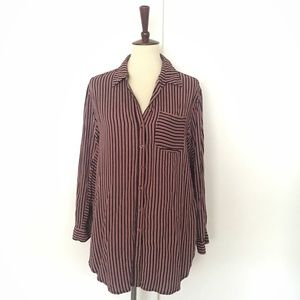 Maeve long sleeve button down